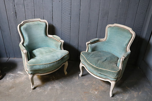 A Pair of C19th French Salon Chairs