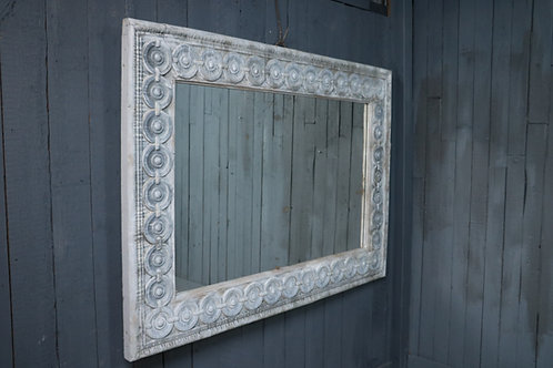 C19th Pressed Zinc Mirror