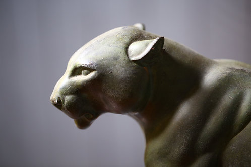 French C1930 spelter study of a Panther