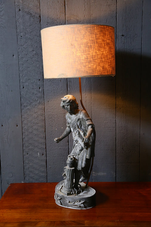 C19th Spelter Lamp