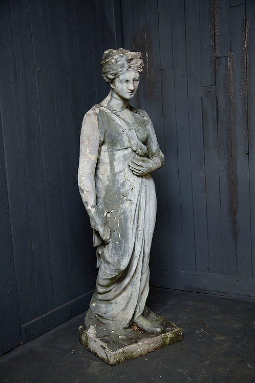 C20th Moulded Statue of a Classical Maiden