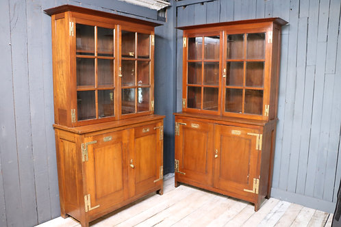 Pair of Early C20th Bookcase Cabinets