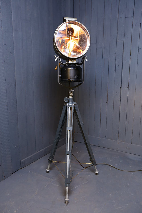 C20th military converted Tilley lamp
