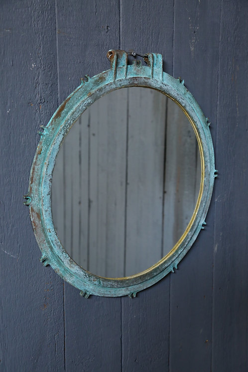 C20th Verdigris Port Hole Mirror
