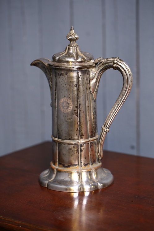 C19th Silver plated jug