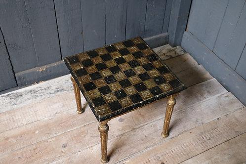 C20th Italian Ebonised Chess Table