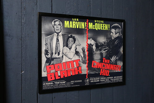 C1960's Classic Double Bill Movie Poster