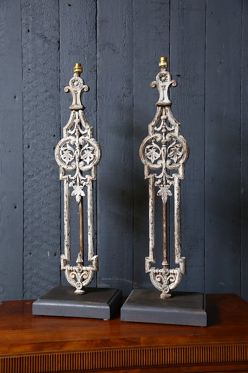 A Pair of C19th Balustrade Lamps