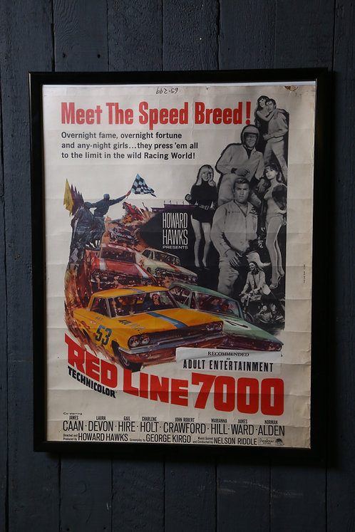 Classic 1960's Muscle Car Racing Movie Poster