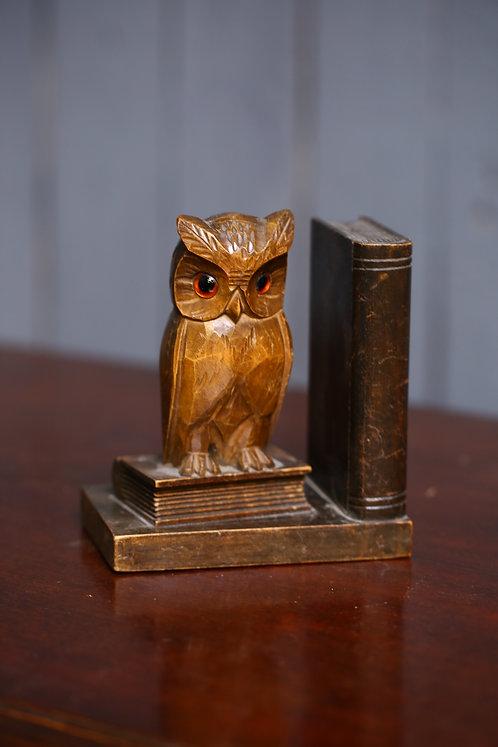 Owl book end