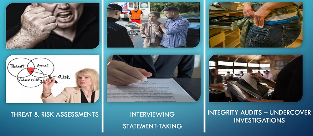 Private Investigator Surrey BC specialized services like Integrity Audits, Interviewing and Threat & Risk Assessments