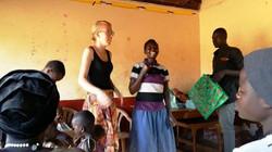 Karamajon literacy class in Namatala slum Bex Henderson