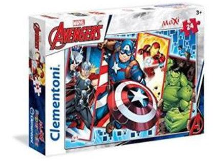 Puzzle 24 pz Maxi - Avengers-Cap. America