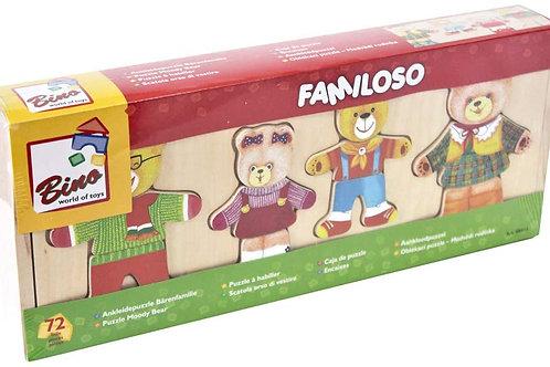 Puzzle orsetti famiglia