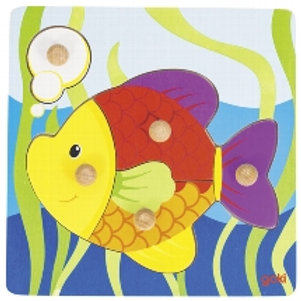 Puzzle 5 pz a pomelli - pesce