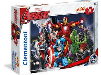 Puzzle 60 pz Maxi - Avengers