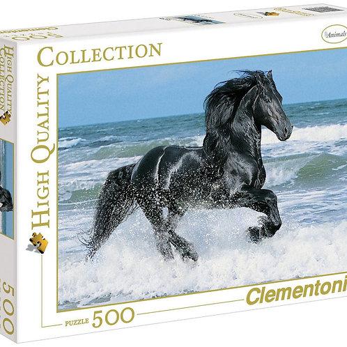 Puzzle 500 pz - Cavallo nero