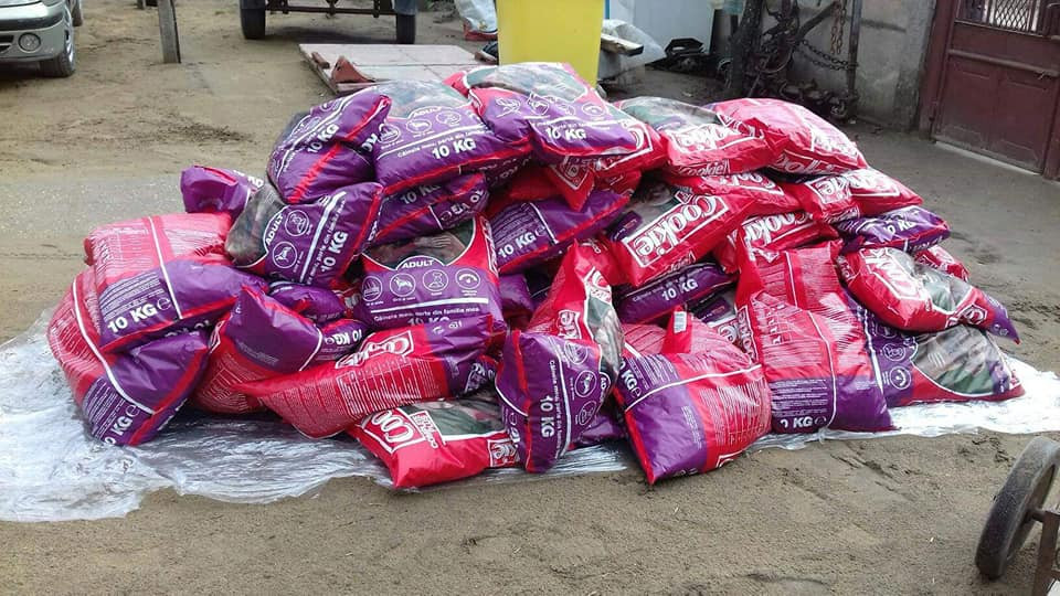 Food sent to trusted independent rescuer Madalina