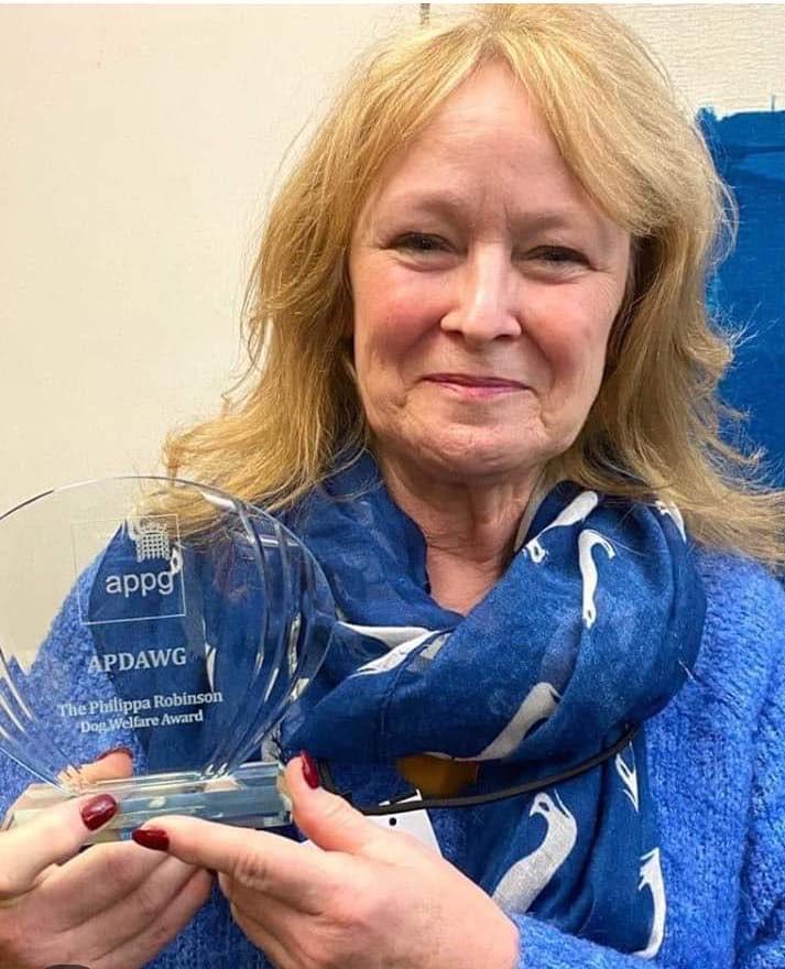 Congratulations to Eileen Jones, recipient of the Phillipa Robinson Dog Welfare Award!