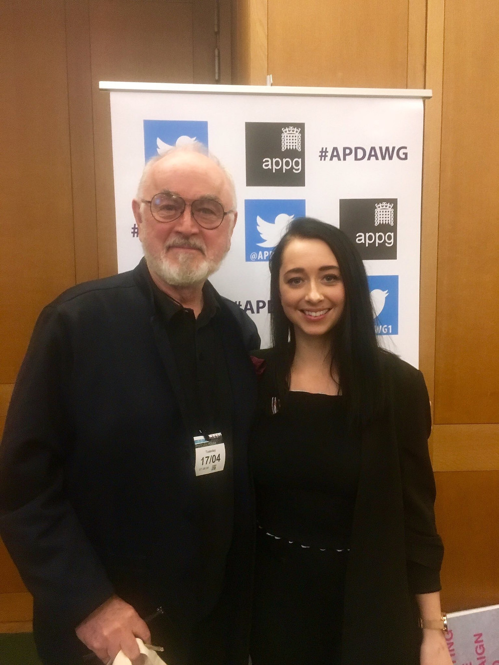 Actor Peter Egan & Shakira Free Miles, founder of The SaveABulls