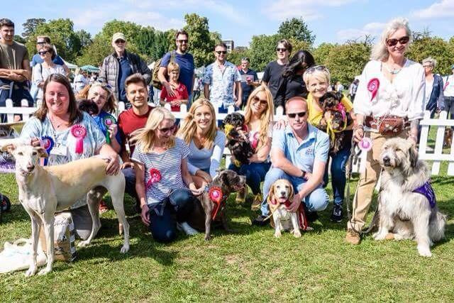 Team K-9 Angels with Rescue Winner Jake, Pasha and Rachel Riley