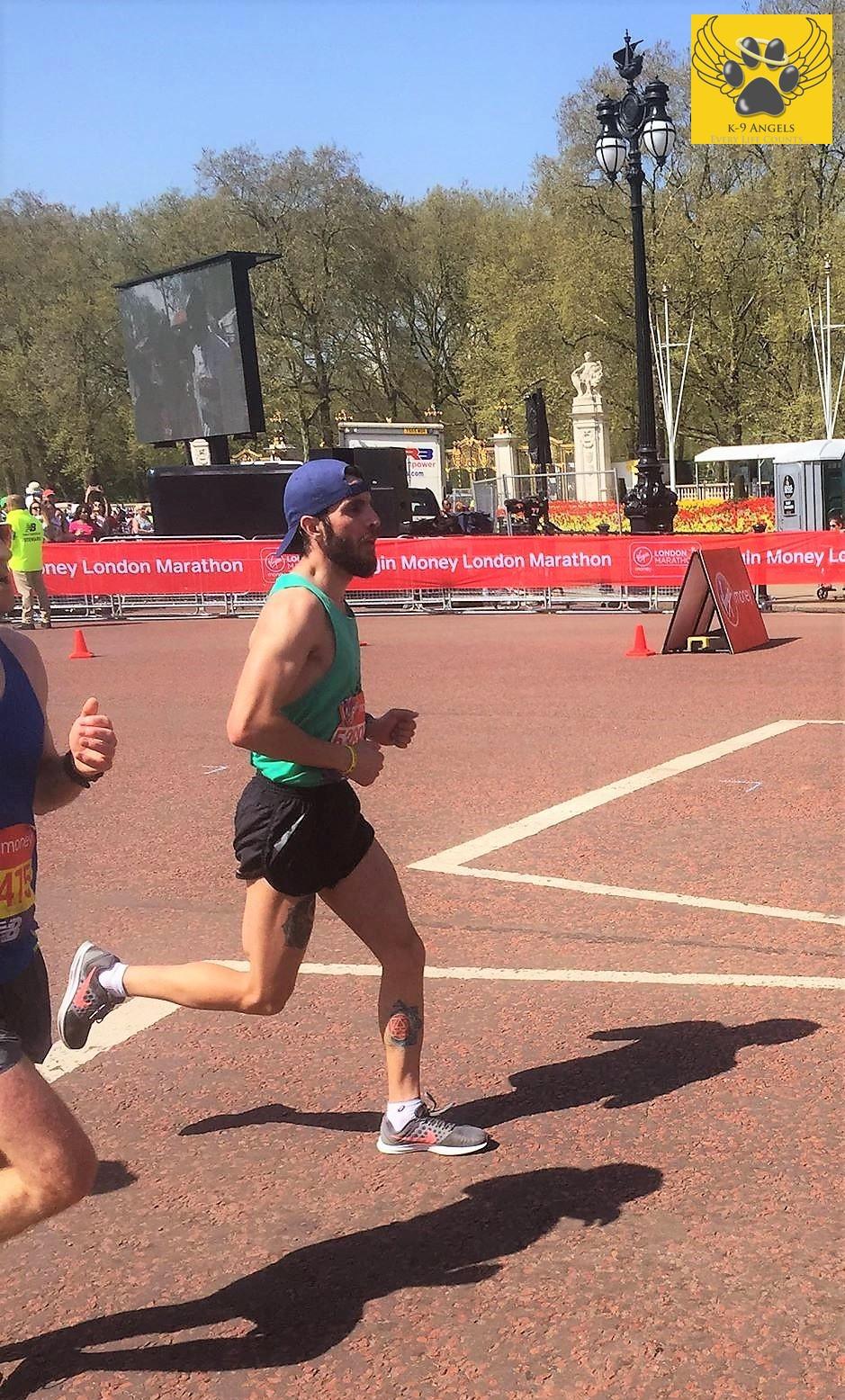 Adrian nearing the finish line!