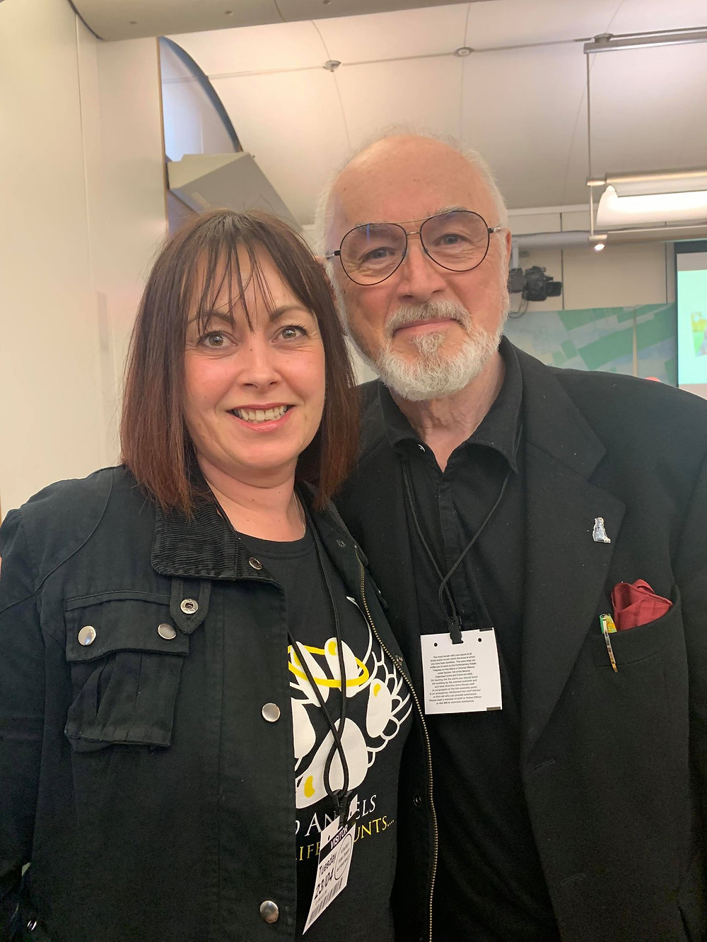 Writer Toni with Peter Egan