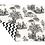Thumbnail: Jogo americano Toile de Jouy P&B