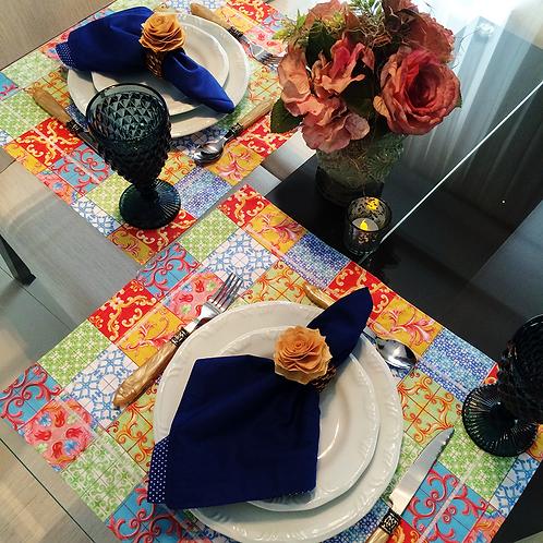 Jogo americano azulejo colorido