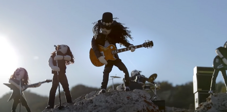 SLASH's Driving Rain music video.
