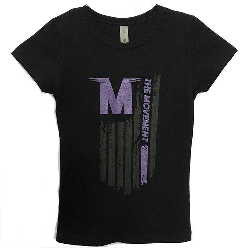 Youth Flag - Cap Sleeve (purple/black)