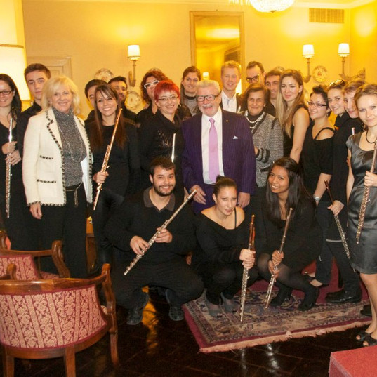 Recital of the students of the Galway Flute Academy in Italy