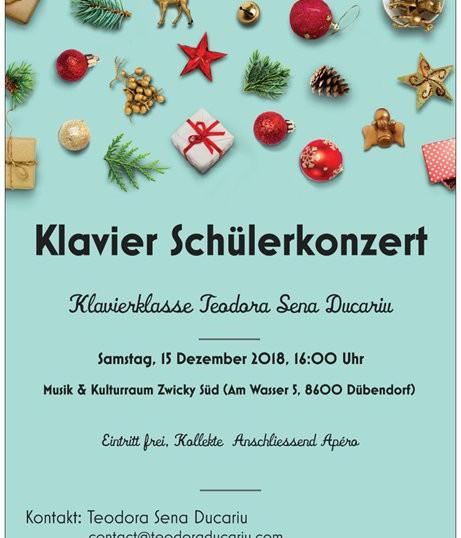 Student concert December 2018