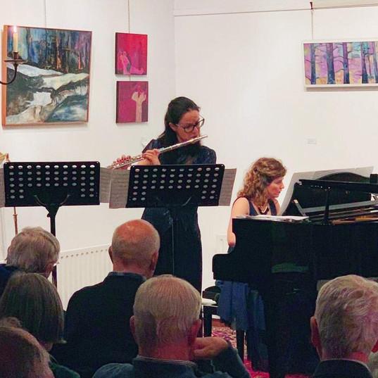 Duo StArt performing in Amsterdam (Piani