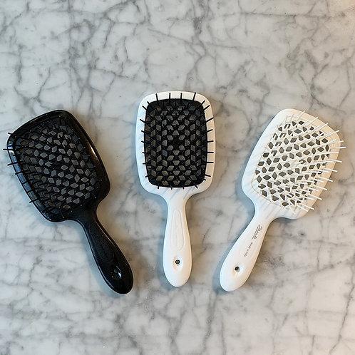 Janeke superbrush detangler  - white/Black bristles