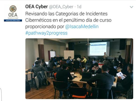 ISACA Medellín presente en programa de formación de la OEA y el MINTIC para la formación de jóvenes