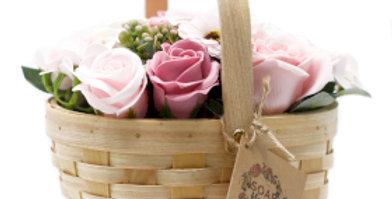 Large Pink Wicker Bouquet
