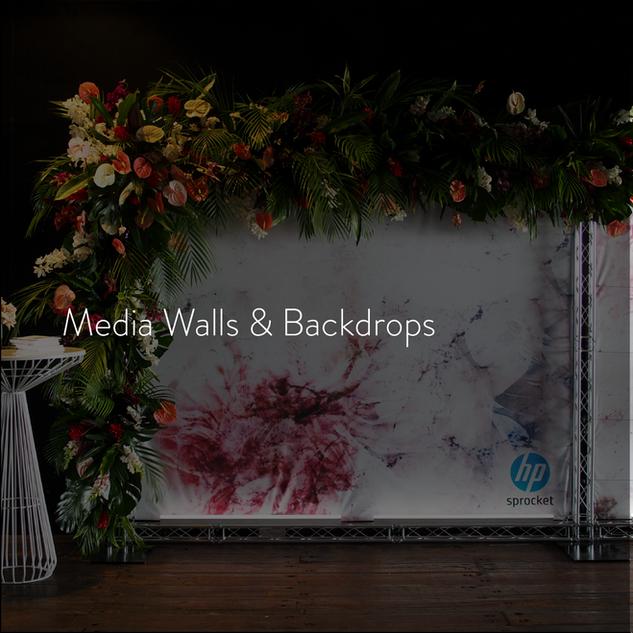 Media Walls & Backdrops