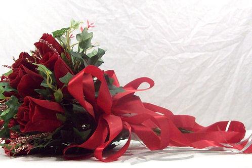 Red Rose Bride Bouqet