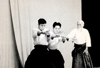 Divine technique Ô Senseï Morihei Ueshiba