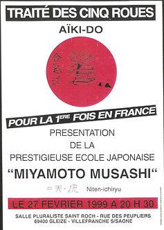 Présentation Ecole Miyamoto Musashi -27 février 1999