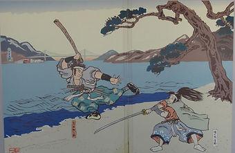 Ganryū-jima - Musashi et Kojirō