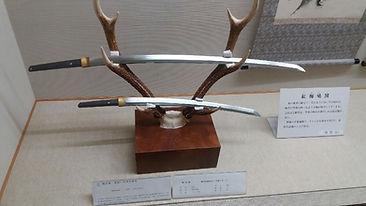 Katana et Wakizashi musée Miyamoto Musashi à Ōhara-Cho