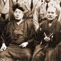 Réverend Deguchi et Ô Senseï Morihei Ueshiba