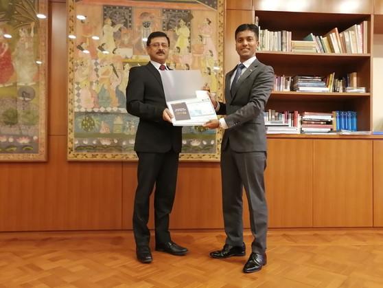 Reporting to Ambassador of India