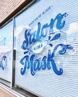 Local Honey Covid19 Window Mural