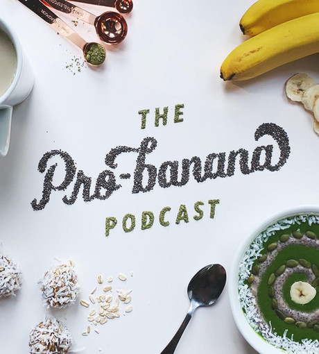 Food Lettering for the podcast Glowing Up