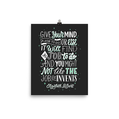 "Big Magic Print (Black) 8""x10"""