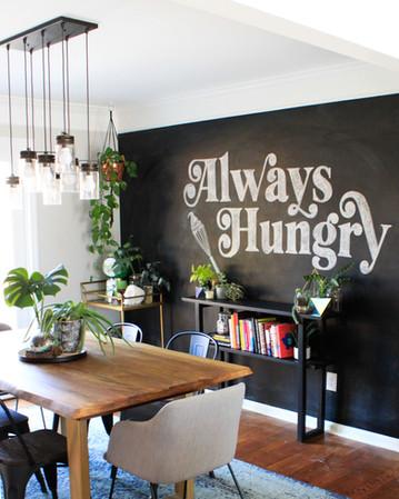Always Hungry Chalkboard Mural