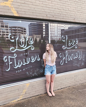 Local Honey Window Mural Life Is The Flower